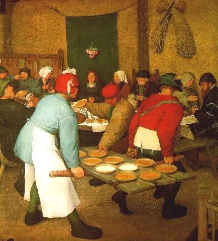 Camareros Banquete nupcial BRUEGEL